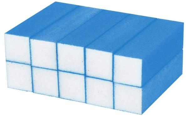 10x Schleifblock / Buffer Neon Blau Körnung 180