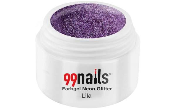 Farbgel Neon Glitter - Lila 5ml