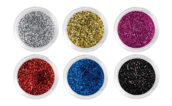 Nailart Glitterpuder 6er Set