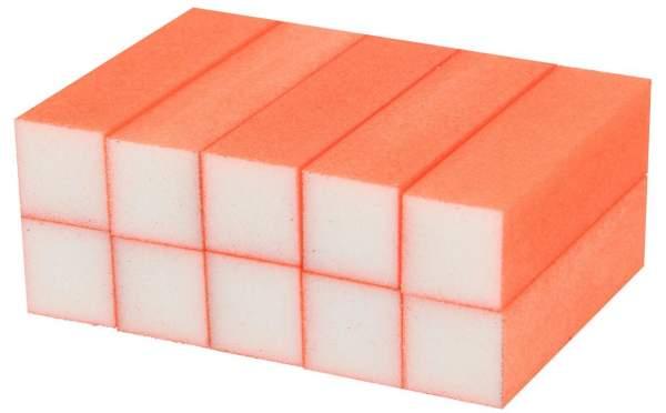 10x Schleifblock / Buffer Neon Orange Körnung 180