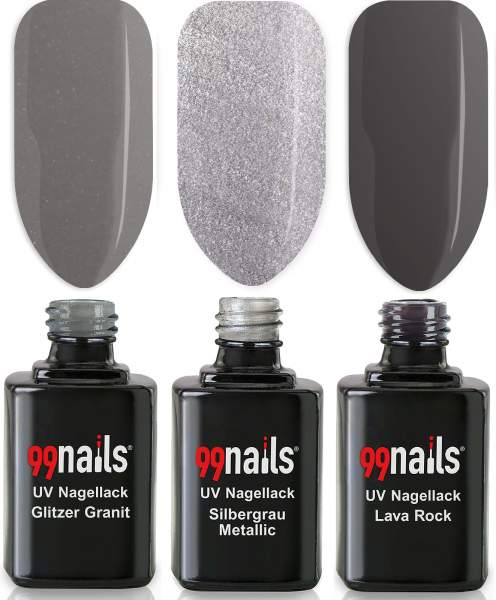 UV Nagellack Set - Light Grey 12ml