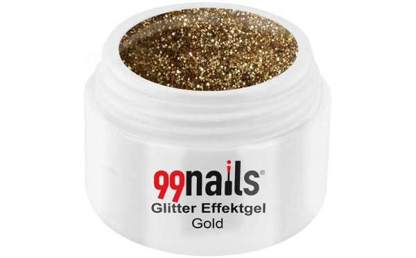 Glitter Effektgel - Gold 5ml