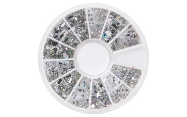 Strasssteine Rondell Silver Mix