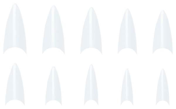 Stiletto NagelTips Klar-Nachfüllbeutel 500 Stück