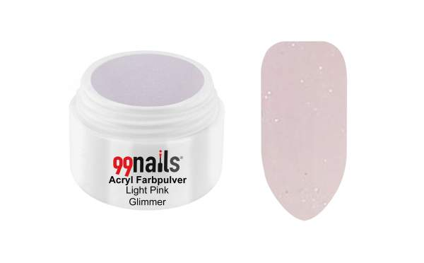 Acryl Farbpulver - Light Pink Glimmer 7g