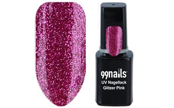 UV Nagellack - Glitzer Pink 12ml