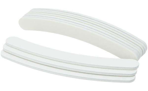 50x Premium Nagelfeile gebogen Weiß