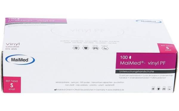 MaiMed Vinylhandschuhe weiß 100er Box Gr. S