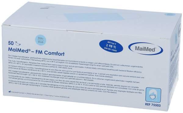 FM Comfort OP Maske Blau mit Gummiband 50er Set