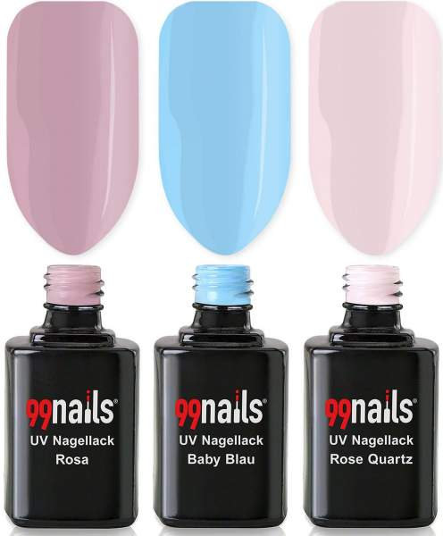 UV Nagellack Set - Light Colours 12ml
