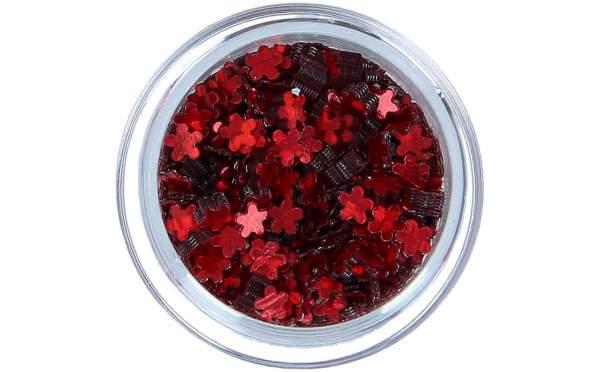Nailart Blumen Red