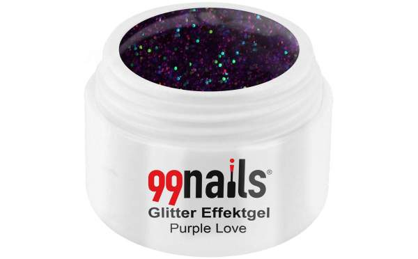 Glitter Effektgel - Purple Love 5ml