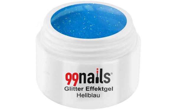 Glitter Effektgel - Hellblau 5ml