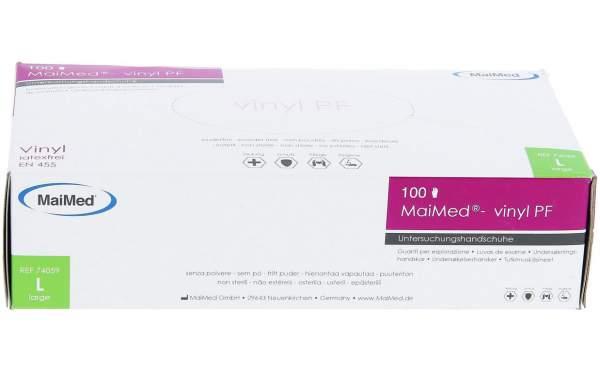 MaiMed Vinylhandschuhe weiß 100er Box Gr. L