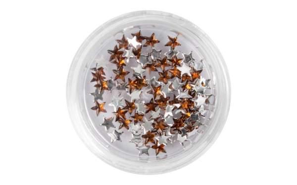 Strasssteine Sterne Copper