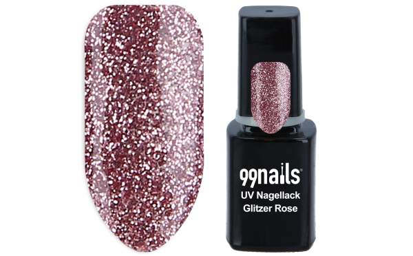 UV Nagellack - Glitzer Rose 12ml