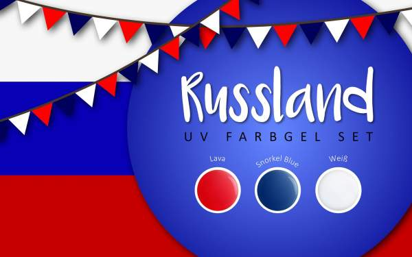 UV Farbgel Set - Russland 5ml