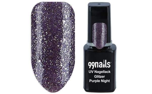 UV Nagellack - Glitzer Purple Night 12ml