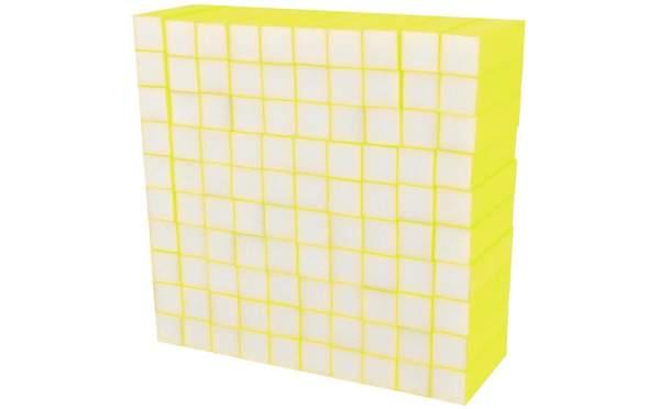 100x Schleifblock / Buffer Neon Gelb Körnung 180