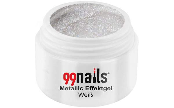 Metallic Effektgel - Weiß 5ml