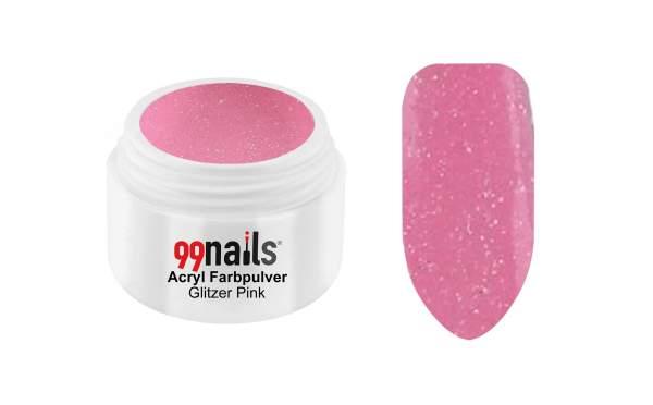 Acryl Farbpulver - Glitzer Pink 7g