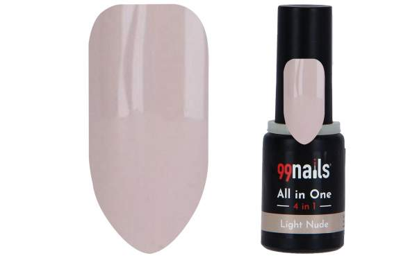 All in One - 4 IN 1 Gellack Light Nude