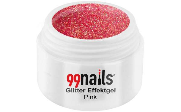 Glitter Effektgel - Pink 5ml