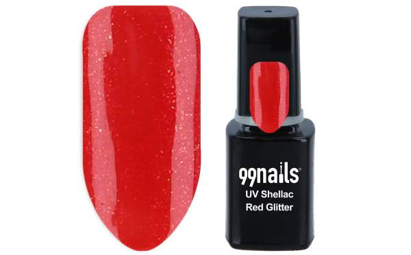 UV Shellac - Red Glitter 12ml