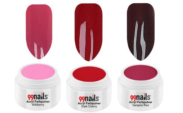 Acryl Pulver Set - Classic Red