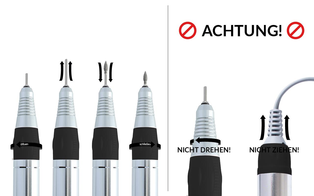 Handstück-Anleitung