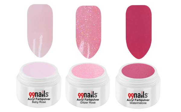 Acryl Pulver Set - Light Pink