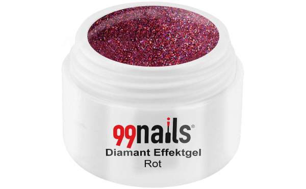 Diamant Effektgel - Rot 5ml