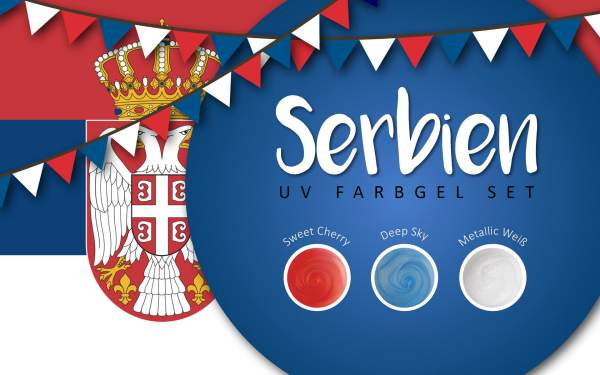 UV Farbgel Set - Serbien 5ml