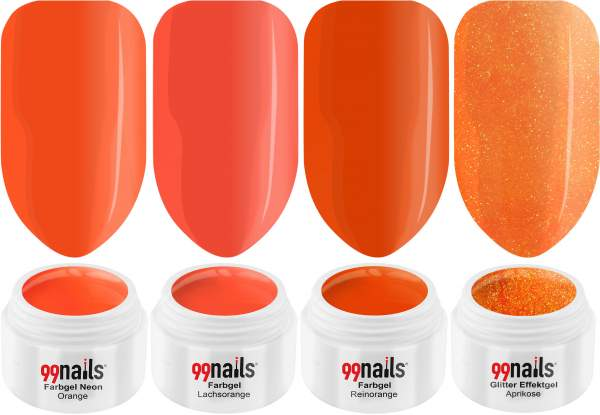 UV Farbgel Set - Juicy Orange 5ml