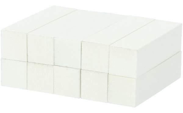 10x Schleifblock / Buffer Weiß