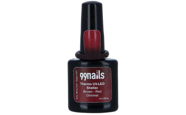 UV Thermo Shellac - Brown-Red Glimmer 7ml