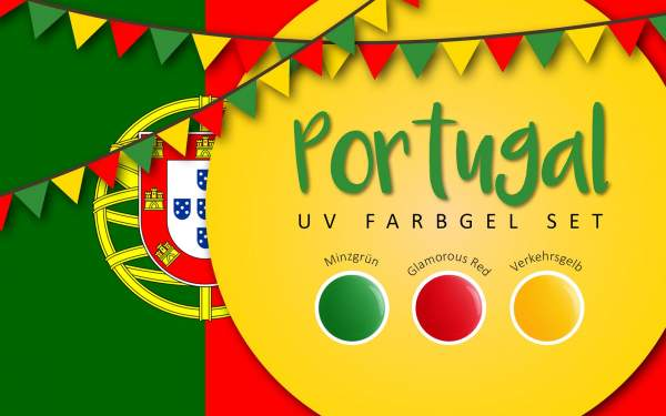 UV Farbgel Set - Portugal 5ml