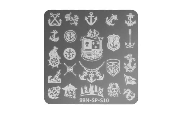 Stamping Plate Square - Pirates