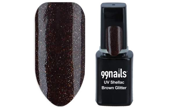 UV Shellac - Brown Glitter 12ml