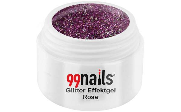 Glitter Effektgel - Rosa 5ml