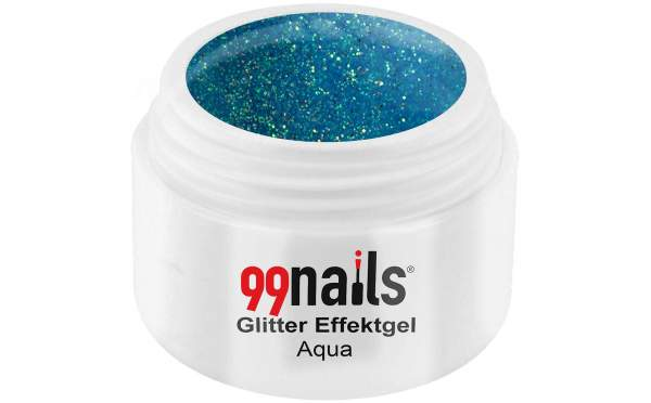Glitter Effektgel - Aqua 5ml