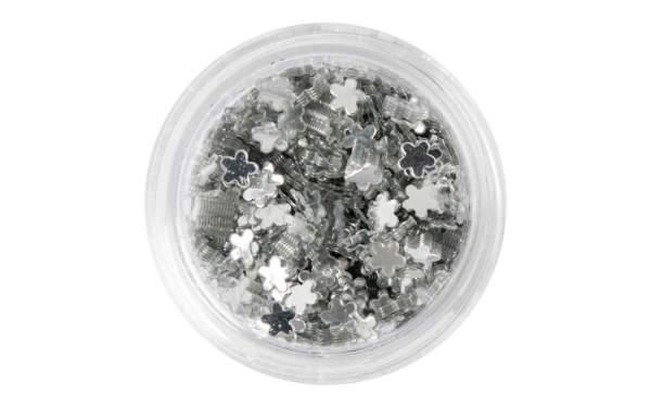 Nailart Blumen Silver