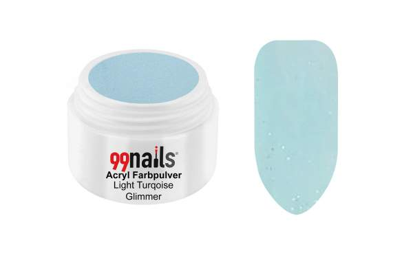 Acryl Farbpulver - Light Turquoise Glimmer 7g