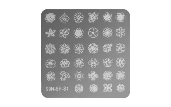 Stamping Plate Square - Flower Power