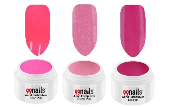 Acryl Pulver Set - Pink Shine