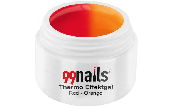 Thermo Glitzer Effektgel - Red-Orange 5ml