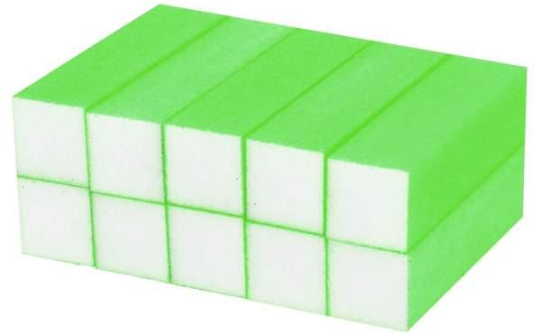 10x Schleifblock / Buffer Neon Grün
