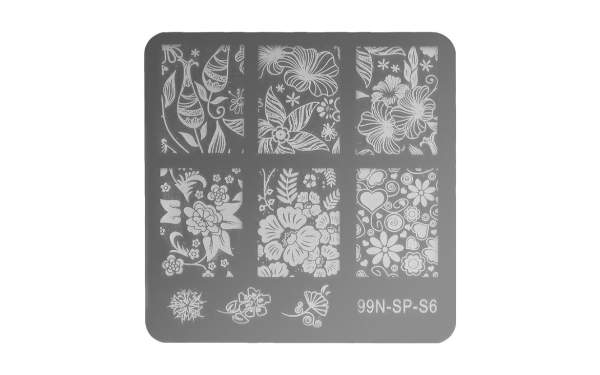 Stamping Plate Square - Lovely Flower