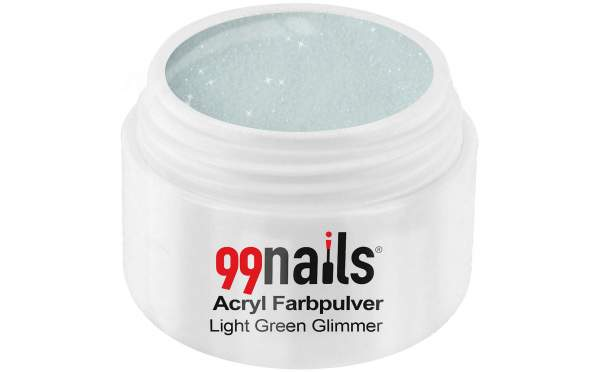 Acryl Farbpulver - Light Green Glimmer 7g