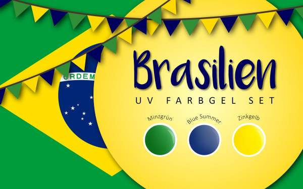 UV Farbgel Set - Brasilien 5ml